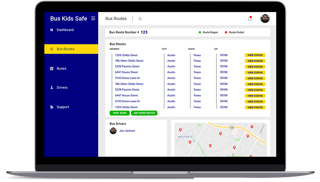 app for tracking school bus